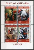 Madagascar 2019 CTO Ant-Man Antman 4v M/S Comics Marvel Superheroes Stamps