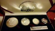 Set 4 monedas plata ORDEN DE MALTA ( 200,100, 50 Y 25 LIRAS) PLATA. 999