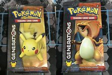Pokemon Cards Generations Booster Pack - Pikachu + Charizard Cover Art Artwork
