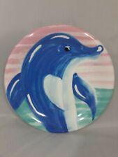 Atlantis Paradise Island Plate Dolphin Hand Painted Souvenir Italy