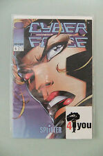 9.8 NM/M MINT CYBER SPACE  # 1 VOL. 2 SPLITTER GERMAN EURO VARIANT  WP YOP 1997