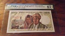 Comoros 5000 Francs 1984 PMG 67EPQ