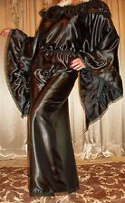 Sexy Black Cd Suit Lace Sissy Jumpsuit Nightgown Satin Long Romper 1X 2X 44 46