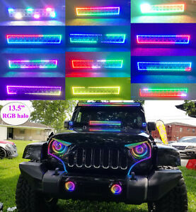 "13.5"" RGB Chasing LED Light Bar for Jeep LAND CRUISER Highlander Prado Porsche"