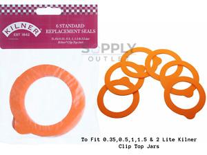 Kilner Clip Top Jar Replacement Seals Pack Of 6 Fits 0.5L to 2L Jars Preserves