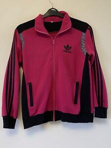 Adidas Track Top Pink Black Track Jacket Size M