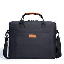 """NEW KALIDI 15"""" - 17"""" Padded Laptop Messenger Shoulder Bag Briefcase Handle Black"""