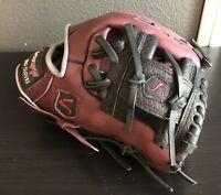Black Burgundy Showoff Baseball Infielder Glove Size 11.5 Best Glove