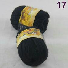 Sale Lot of 2 Skeins New Knitting Yarn Chunky Colorful Hand Wool Wrap Scarves 17