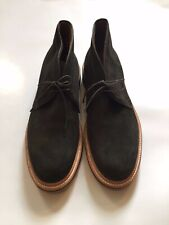 Alden JCrew Suede Chukka Boots Hunting Green Crepe Sole 10.5