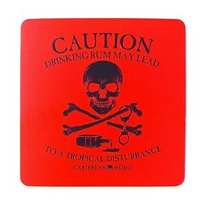 Caribbean Hobo Sticker decal Rum Key West Mojitos Tropical Disturbance skull