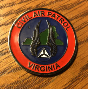 "Challenge Coin CIVIL AIR PATROL VIRGINIA 2009 Fort Pickett 1 3/4"" #723"