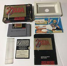 The Legend of Zelda A Link to the Past Super Nintendo Snes 100% Working Original