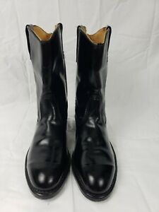 Lehigh- Hand Crafted Leather Black Western Cowboy Boots w/Safety Toe NEW!!!
