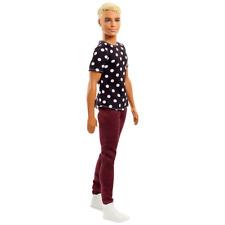 Mattel Barbie Fashionistas Blond hair Ken Doll no 14 polka-dot top and pants