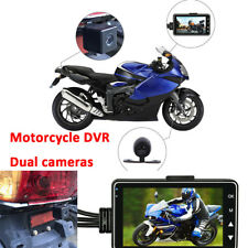 "3"" Motorcycle 140° Dual Action Camera Video Recorder DVR LCD screen Waterproof"