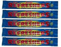 5x Swizzels Refreshers Original Lemon Flavour Chew Bars - Free Shipping