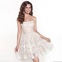 Abendkleid Ballkleid Braut Kleid Standesamt weiß Brautkleid Cocktailkleid BC455