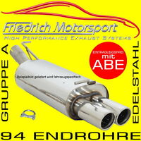 FRIEDRICH MOTORSPORT V2A SPORTAUSPUFF VW Golf 4 1.4-2.3 mit Jubi-GTI-Heck