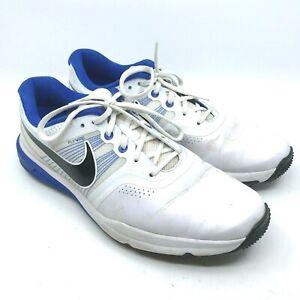 Nike Flywire Lunarlon Men's Golf Shoes Size 10 704427-101 White/Blue   [12]