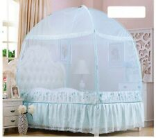 Zippered Lace Mosquito Netting Mesh Canopy Princess Dome Bed Tent Full/Queen