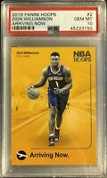 2019 ZION WILLIAMSON Panini HOOPS ARRIVING NOW ROOKIE PSA 10 GEM RARE HOT RC