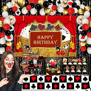 Partyreal Casino Theme Party Decorations, Casino Birthday Party Decorations Kit,