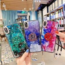 Luxury Bling Glitter Silicone Ring Chain Case for iPhone 11 Pro Max S9/S10/S20