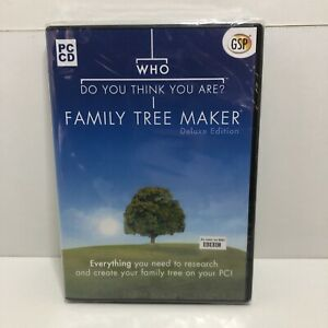 Who Do You Think You Are Family Tree Maker Deluxe Edition (PC CD) ~ NEW & SEALED