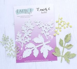 Lady E Design Leaves 6 Herbs Cutting Die Set, Flower Making, Foam Flowers
