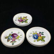 Untersetzer Porzellan Royal Worcester bone china 3 Stück Hand Painted England