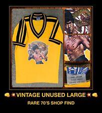 ORIG vtg 70's BRUCE LEE Enter the Dragon poster movie JKD Clash Band t-Shirt LG