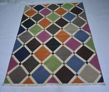 Handmade Cotton Multi Color Bohemian 4x6 Feet Home Decor  Area Rug