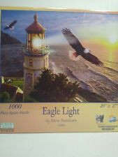 SunsOut 1000 piece jigsaw puzzle Eagle Light Lighthouse ocean NEW Gift!