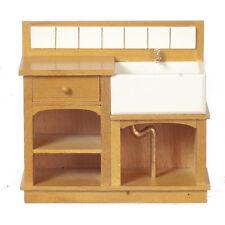 Escala 1/12 Casa De Muñecas Muebles Roble/Disipador de país pequeño 31022GO