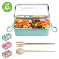 800ml Wheat Straw Lunch Box Bento Box Microwave Outdoor Picnic Food Container