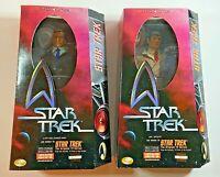 "Captain James Kirk & Mr Spock 1999 Playmates Star Trek Ltd Ed 12"" Figure Set"