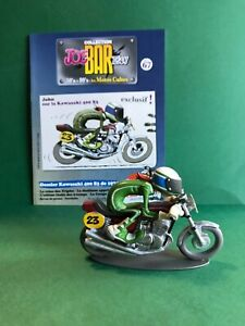 "Figurine joe bar team & livret moto KAWASAKI 400 S3 "" John "" TBE"