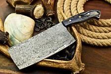 Gorgeous Custom Hand Made Damascus Blade Chopper Chef Hunting Knife | Hard Wood