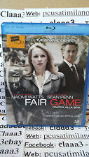Blu-ray ITA - FAIR GAME - Caccia alla spia - naomi Watts - sean penn