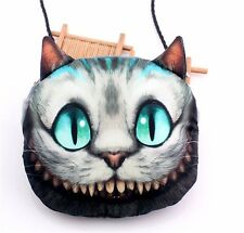 New Charm Design 3D Alice Cheshire Cat Handbag Cross Leather Hobo Messenger Bag