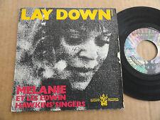 """DISQUE 45T DE MELANIE ET LES EDWIN HAWKINS' SINGERS  """" LAY DOWN """""""