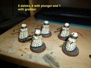 Dr Who 5 Plastic Daleks Citadel 1988