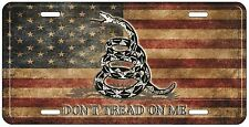 "Vintage Rustic USA American Gadsden Don't Tread On Me 6""x12"" License Plate Sign"