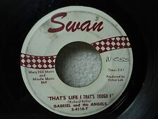 Gabriel And The Angels 45 Thats Life / Dont Wanna Twist 1962 Doo Wop Pop Orig!