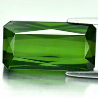 Green Tourmaline 15.22 Ct. VVS Octagon 19 x 10 Mm Natural Gemstone Unheated