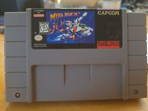 Mega Man X2 SNES AUTHENTIC cart!  sticker is in excellent condition!!