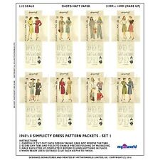 8 MINIATURE Do It Yourself Simplicity PATRON ROBE paquets (dpds01)