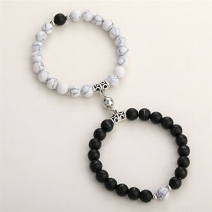 2021 Magnetic Couple Bracelets Attraction Matching Beaded Bracelet Couples Gift