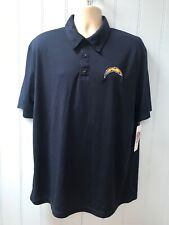 Offical NFL Team Apparel Los Angeles Chargers Men's Golf Polo Shirt Size XL